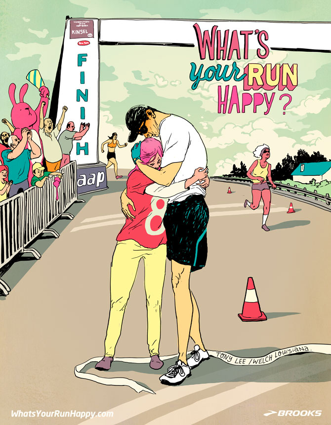 Christina Ung Illustrations - What's Your Happy Run