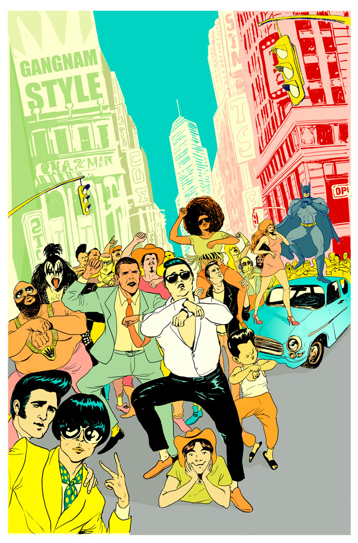 Christina Ung Illustrations - Gangnam Style